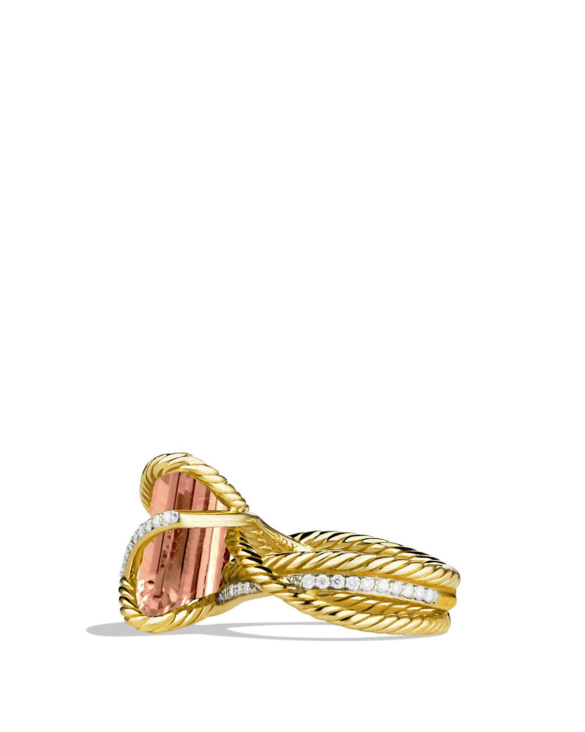david yurman cable wrap ring with faceted morganite
