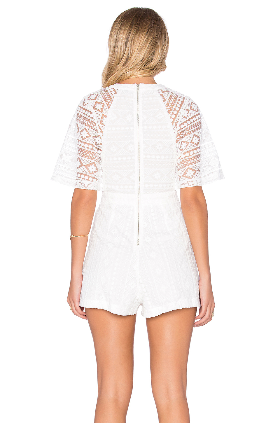 e5a3385c75 Lyst - Tiger Mist Southern Belle Playsuit in White