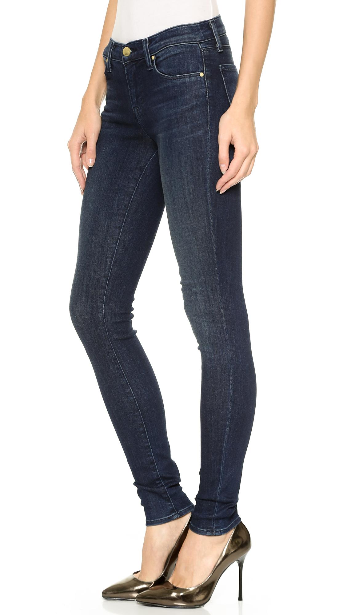 09ace763d934 Lyst - J Brand 620 Mid Rise Super Skinny Jeans - Fix in Blue