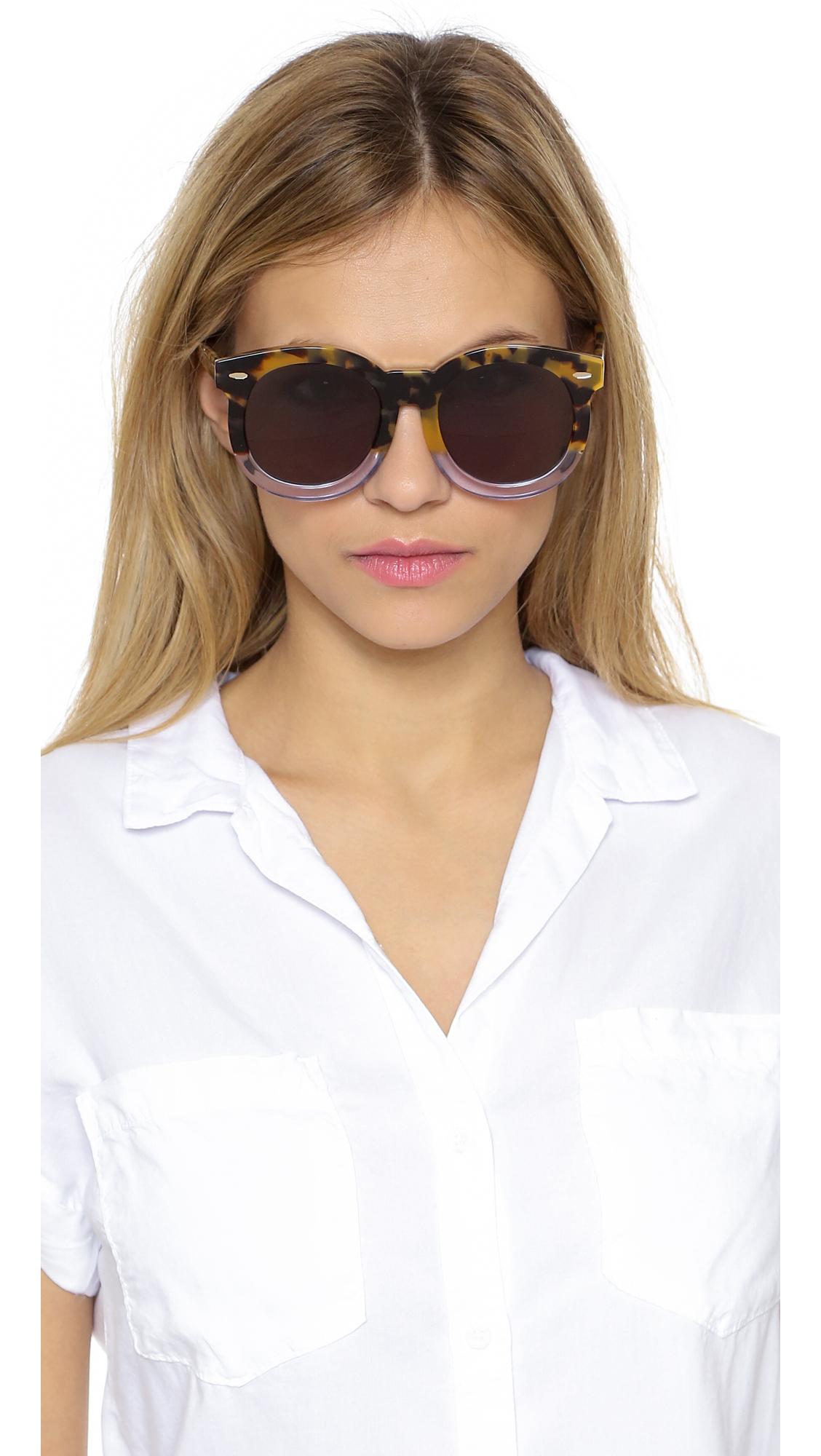 2e71fd5fee Karen Walker Super Duper Thistle Sunglasses in Metallic - Lyst