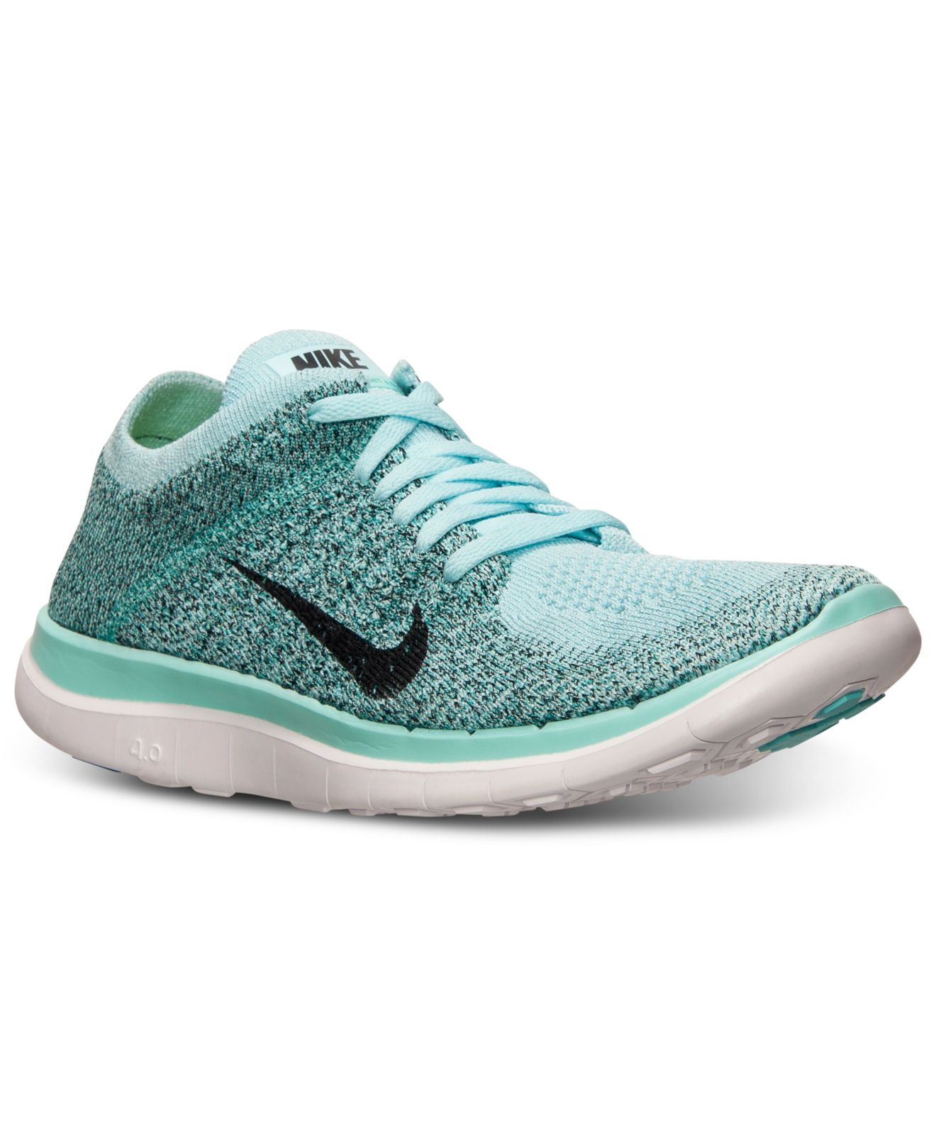 cheap for discount 60054 5cbb2 Lyst - Nike Women s Free Flyknit 4.0 Running Sneakers From Finish Line in  Blue