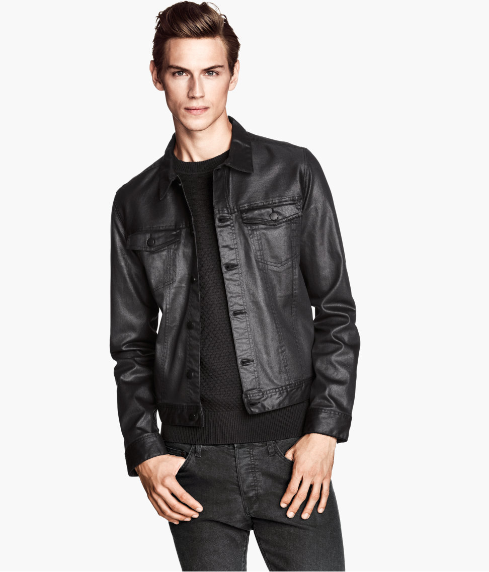 Lyst H M Denim Jacket In Black For Men