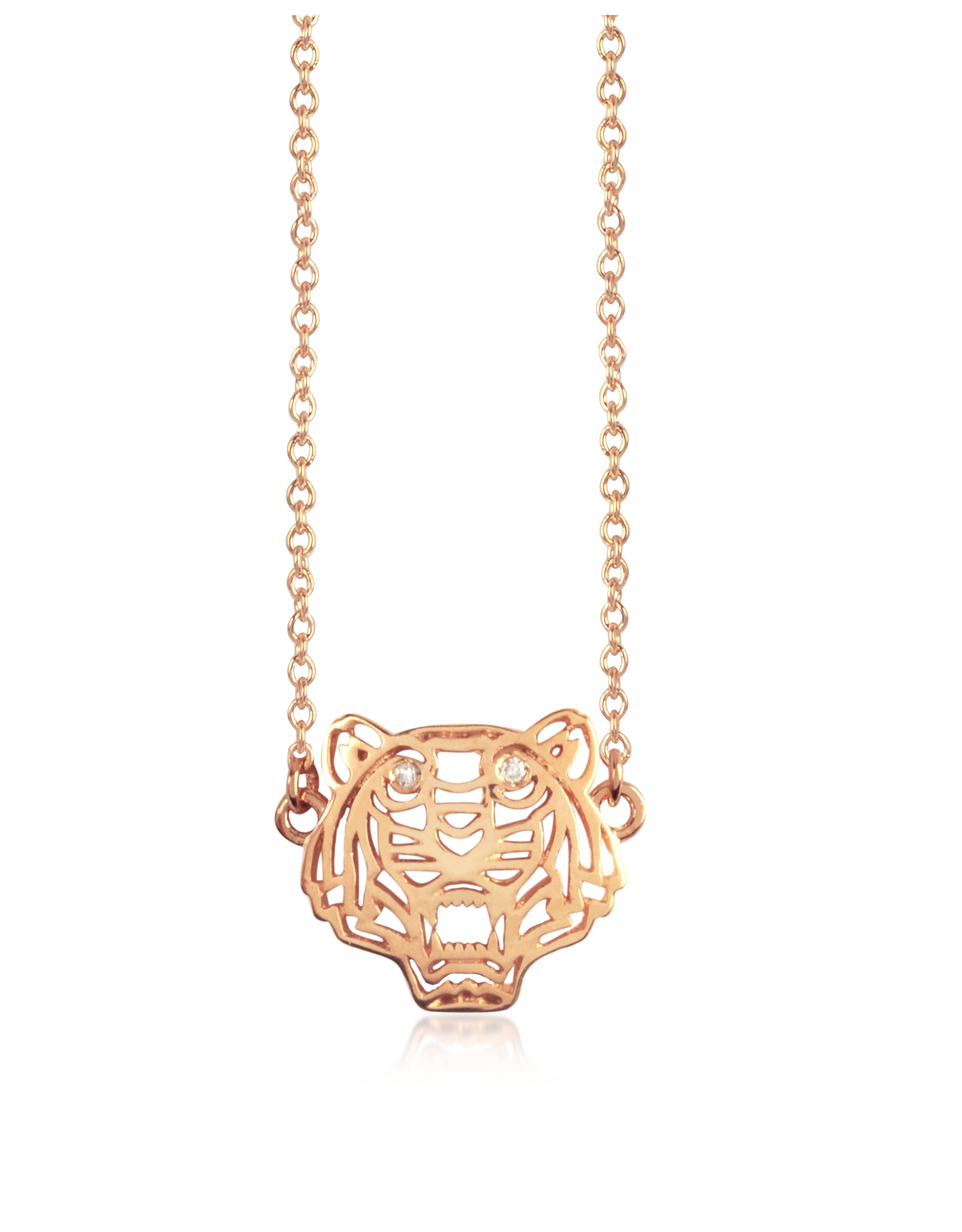 Lyst Kenzo Mini Tiger Necklace In Pink
