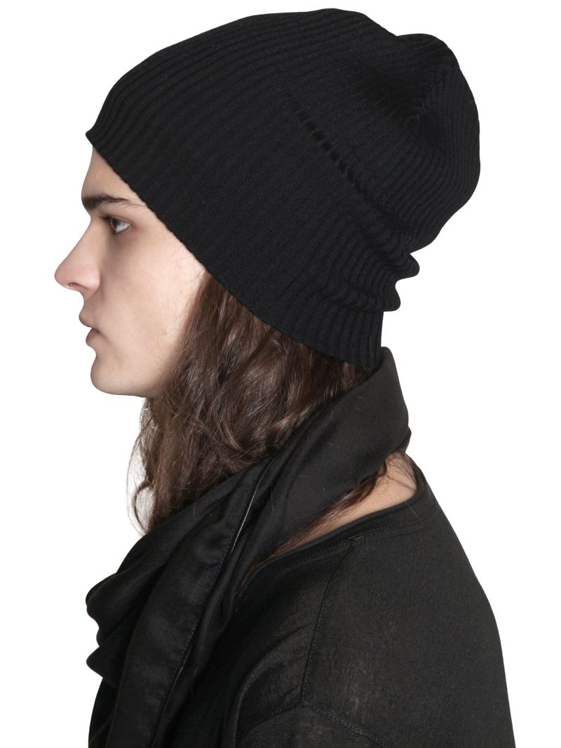 Lyst - John Varvatos Fine Merino Wool Knit Beanie Hat in Black for Men a3bc315eabe