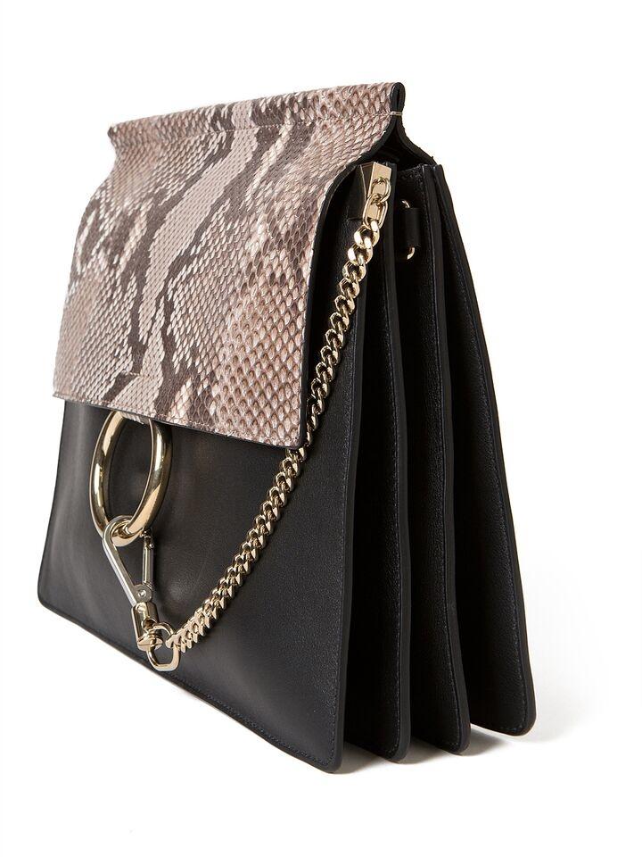 chloe hangbags - chloe black python medium faye bag, the best purse