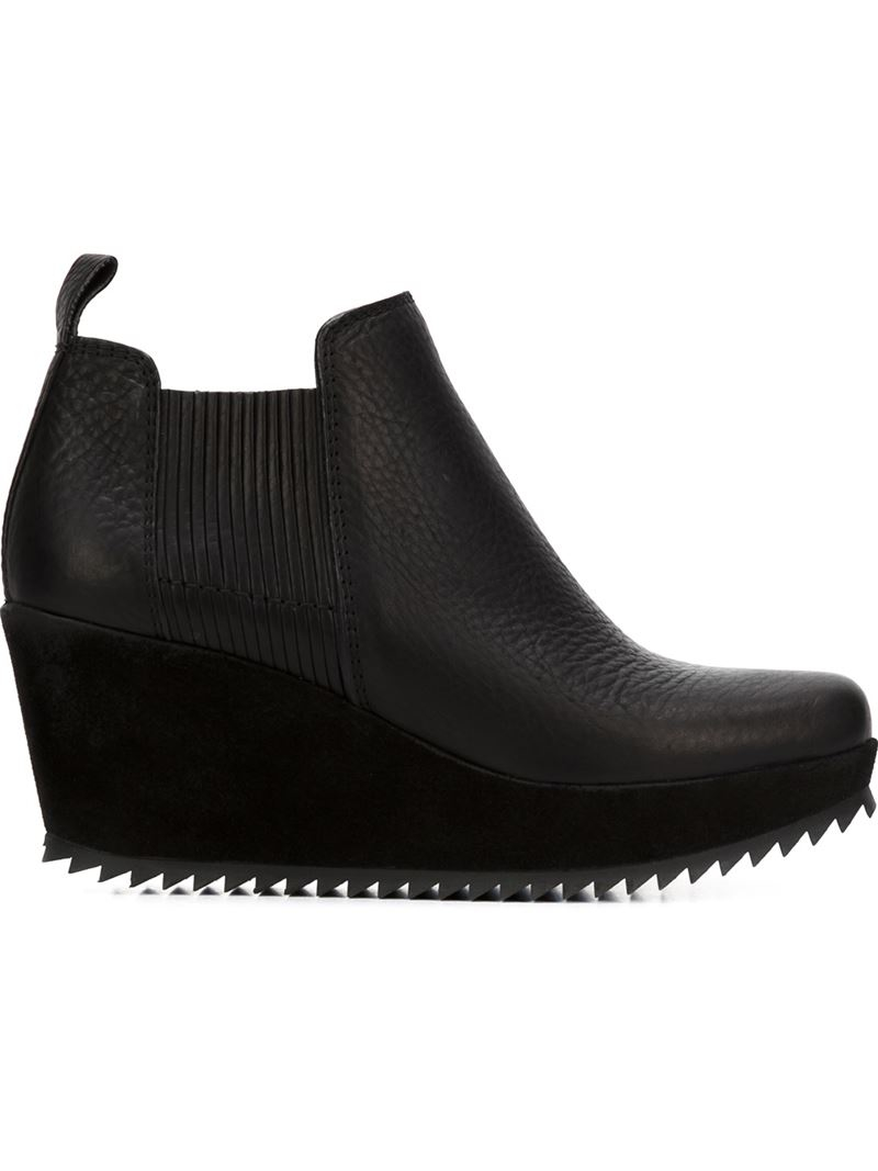 pedro garcia fawn wedge ankle boots in black lyst