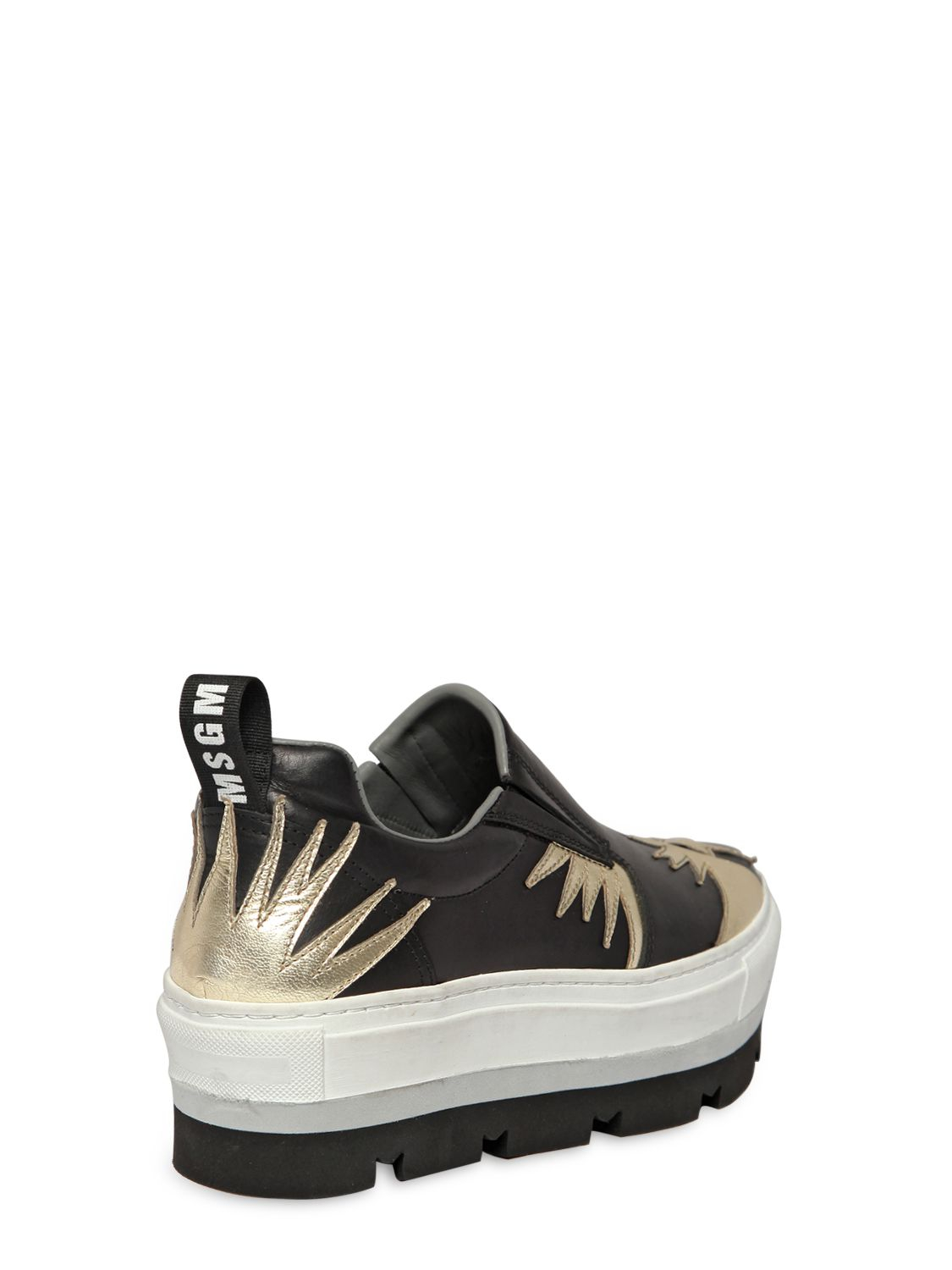 MSGM Leather Slip-On Sneakers quality free shipping low price BoQCg4