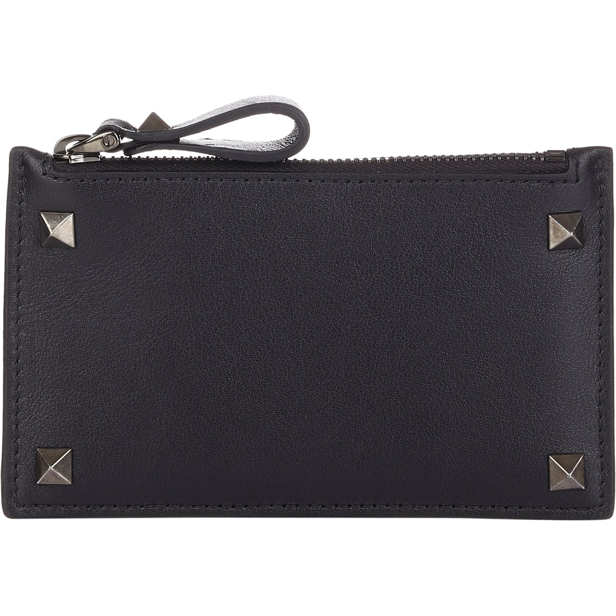 369b073ed5cb1 Valentino Rockstud Zip Card Case in Black for Men - Lyst