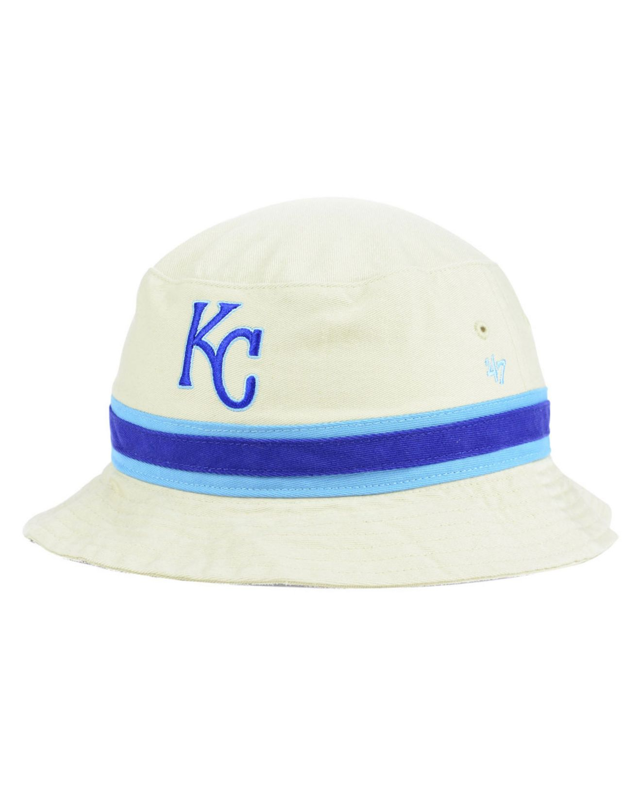 8c01217a715 ... promo code for lyst 47 brand kansas city royals striped bucket hat in  white for men