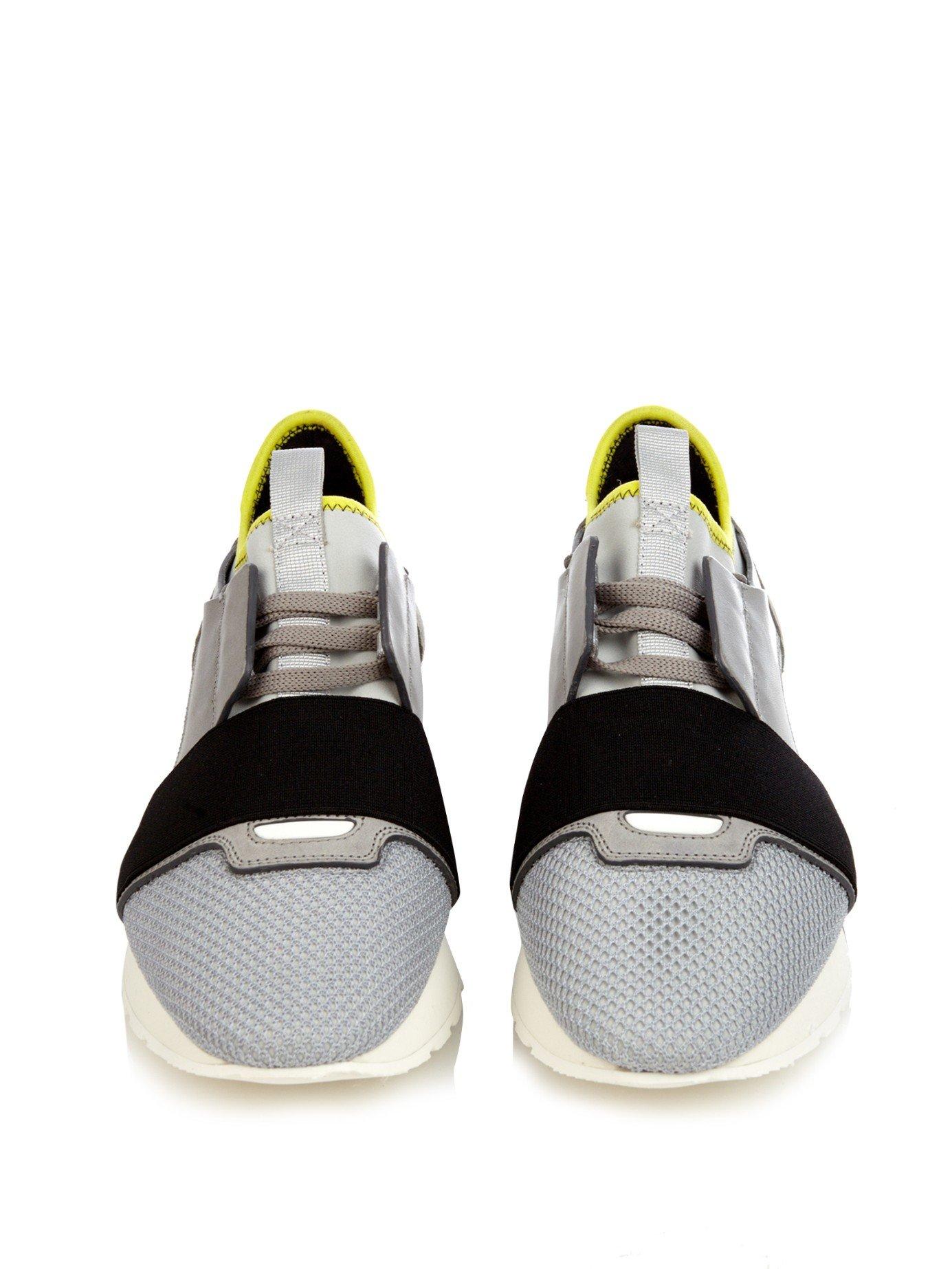 Lyst Balenciaga Multi Panel Low Top Sneakers In Gray