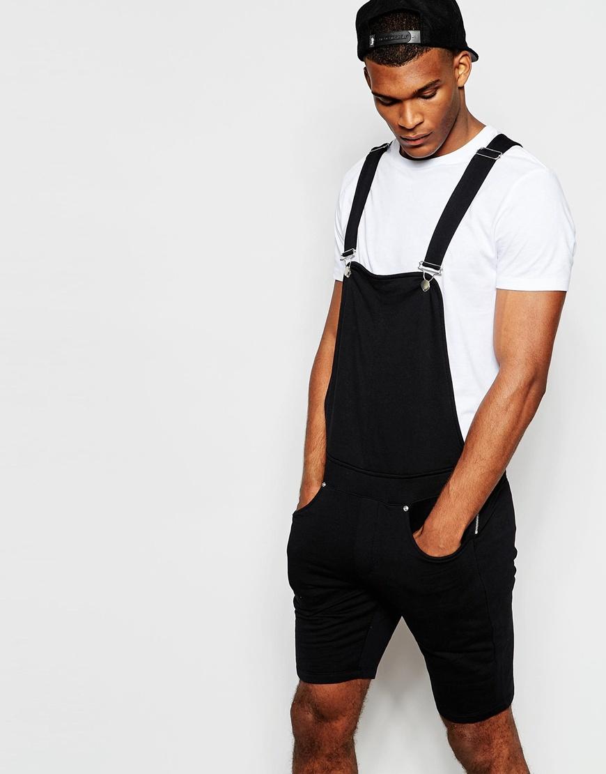 Asos Jersey Overalls In Black For Men Lyst
