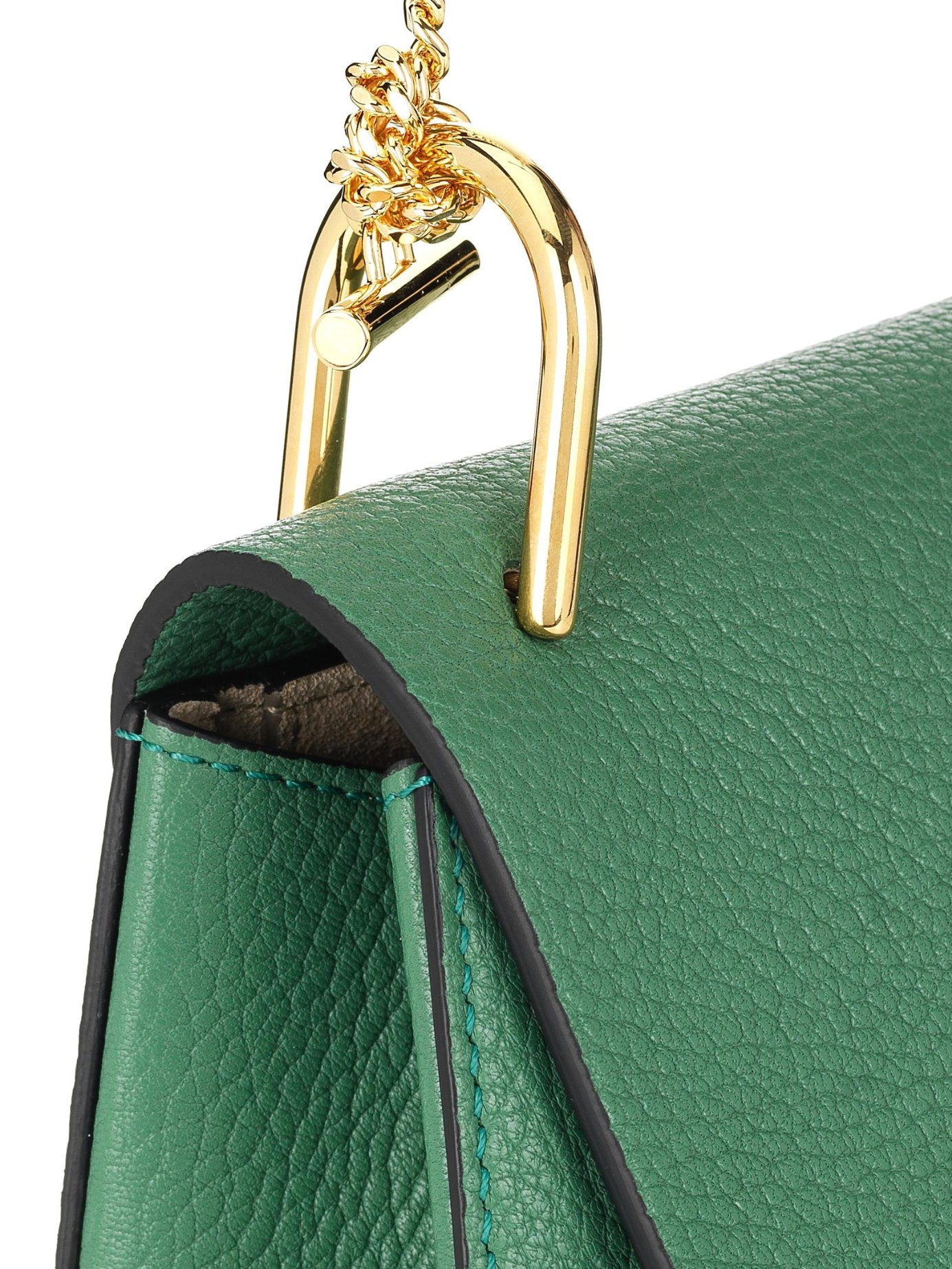 Chlo¨¦ Drew Small Leather Shoulder Bag in Green | Lyst