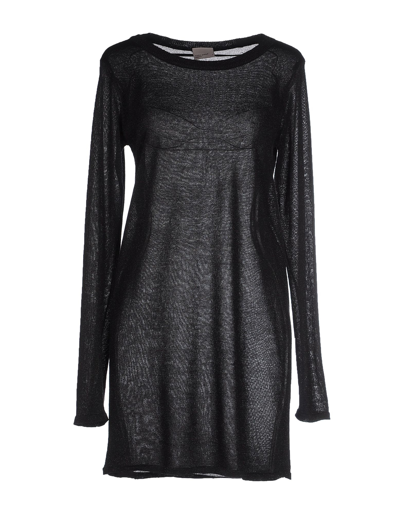 lyst vero moda short dress in black. Black Bedroom Furniture Sets. Home Design Ideas