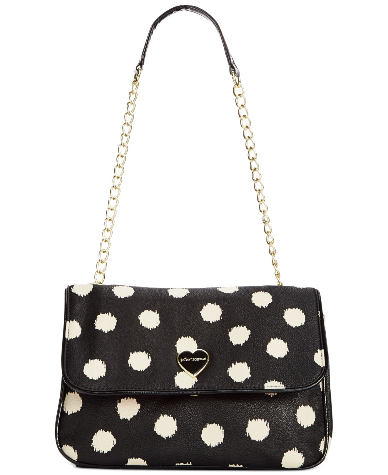 Lyst Betsey Johnson Macy S Exclusive Shoulder Bag In Black