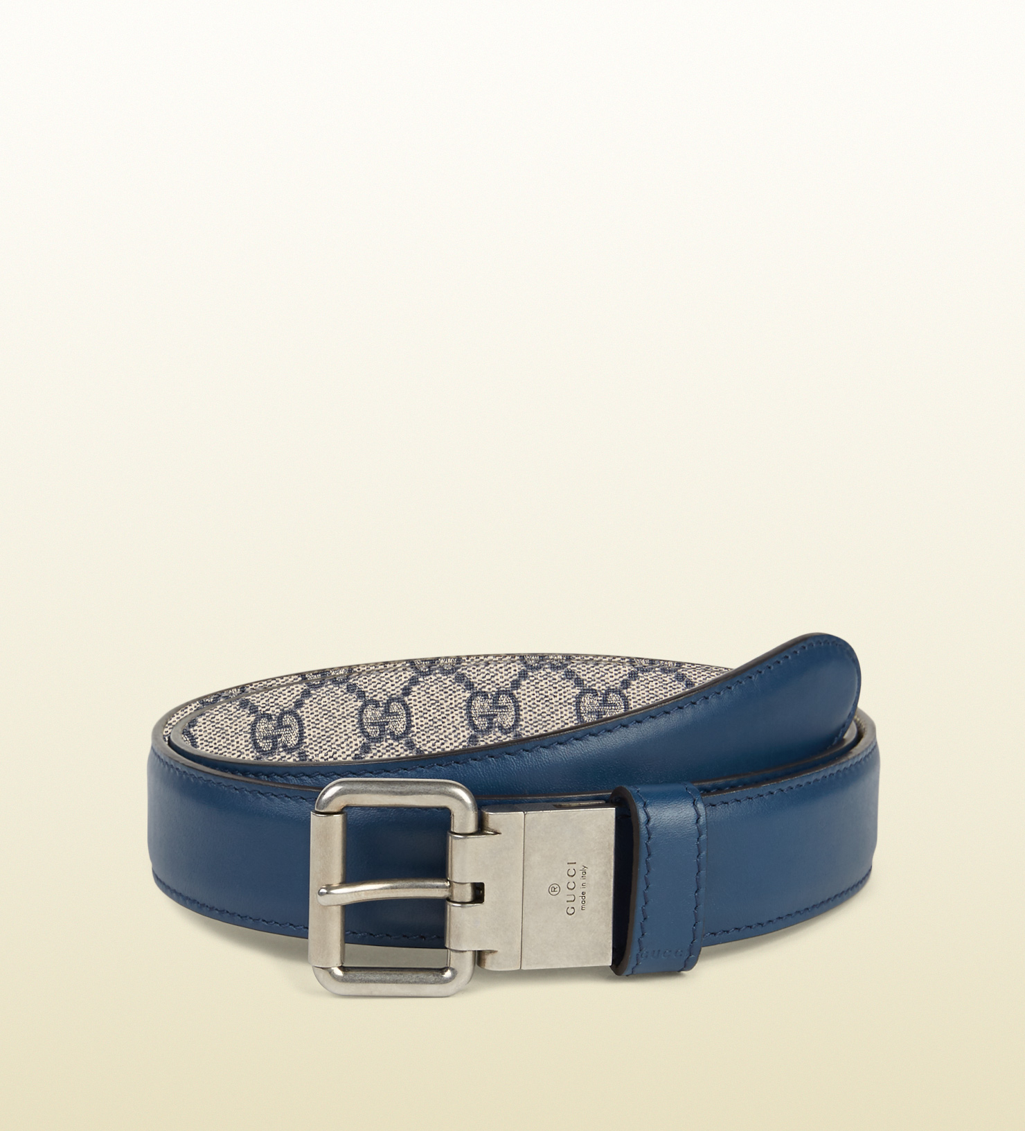 d6699d24e43 Lyst - Gucci Reversible Leather And Gg Supreme Belt in Orange for Men