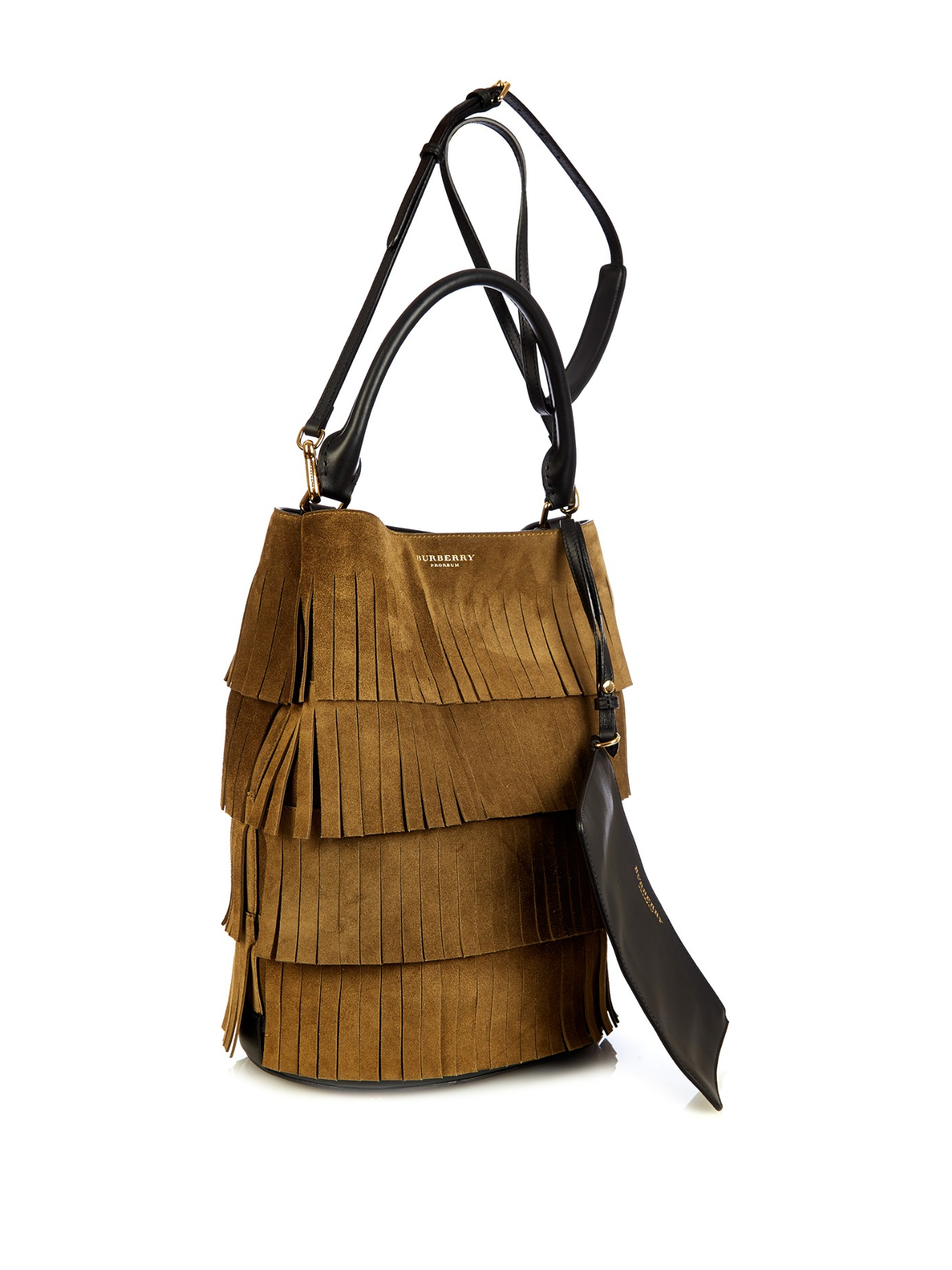 Lyst - Burberry Prorsum Camo-print Calf-hair Bucket Bag in Natural 56a1e3485471b