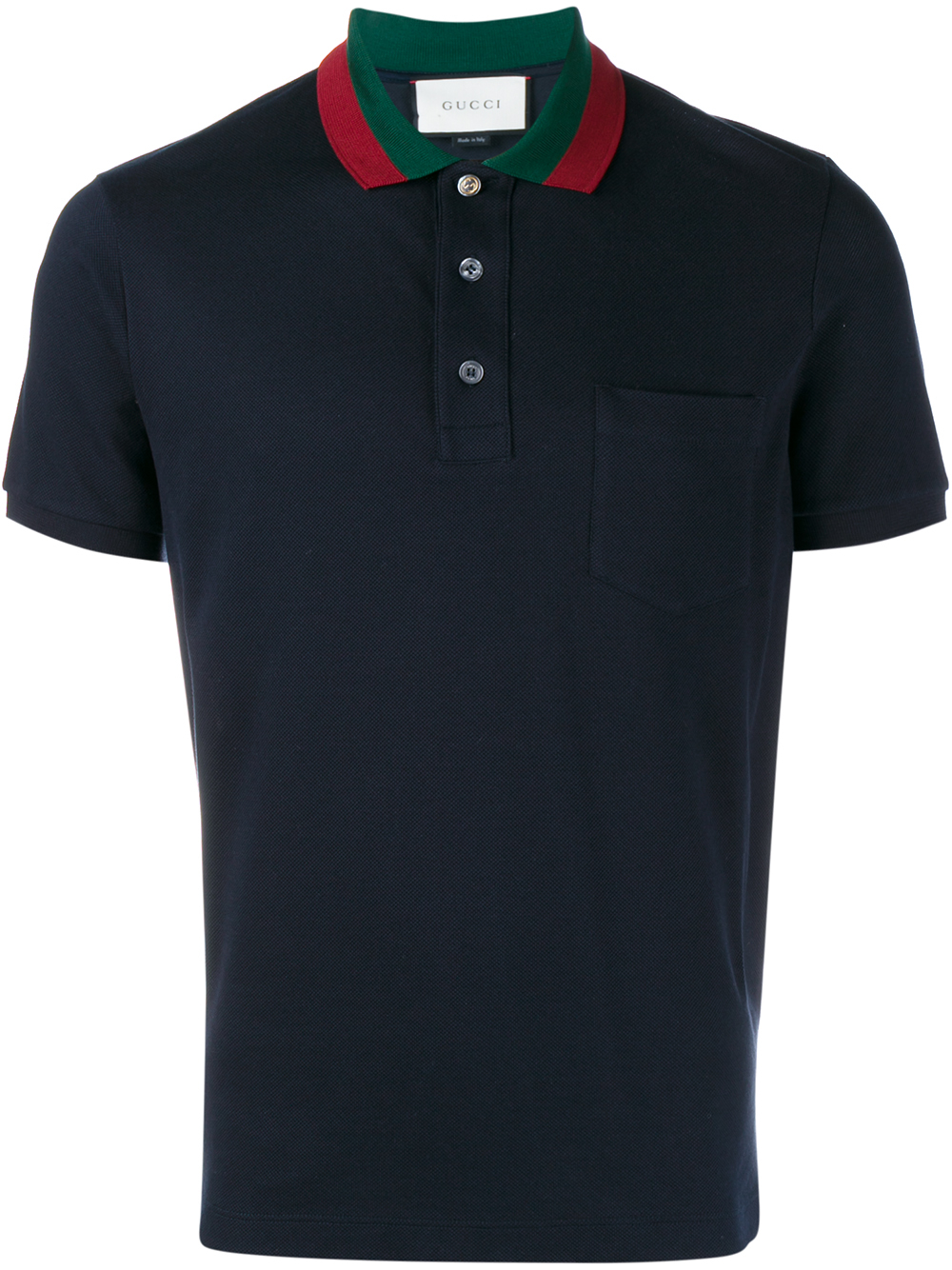 1ef8e2400c8 Lyst - Gucci Striped Collar Polo T-shirt in Blue for Men