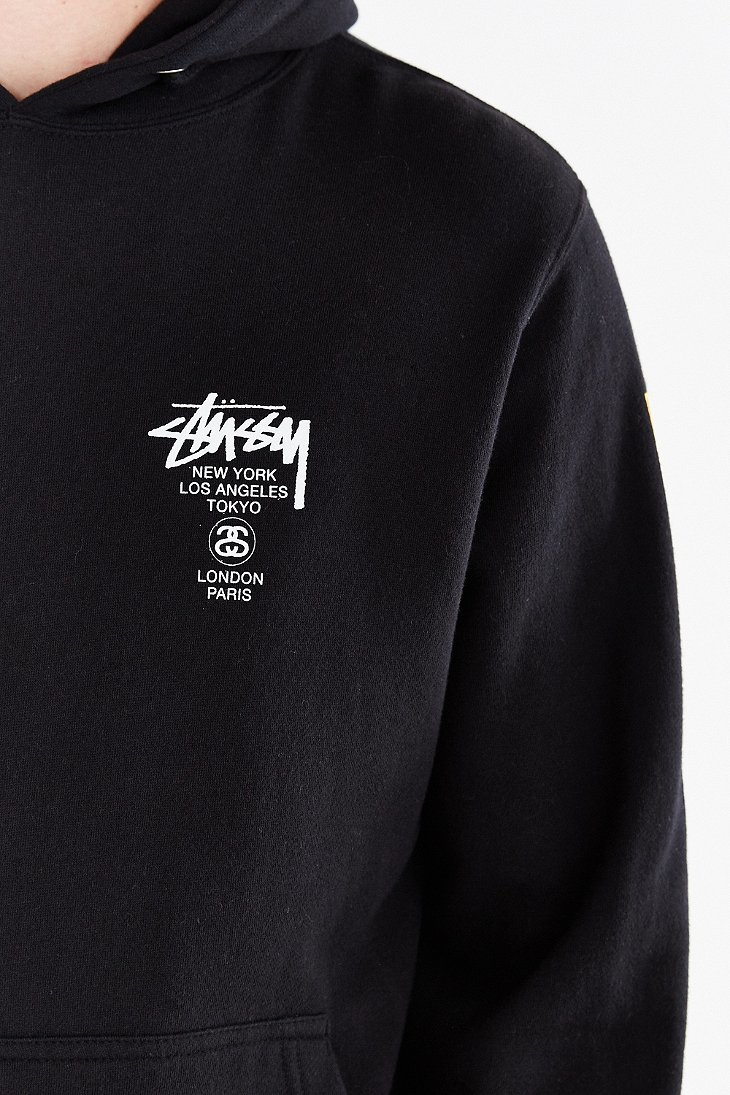 Lyst - Stussy World Tour Flags Pullover Hoodie Sweatshirt in Black for Men a43bd1629