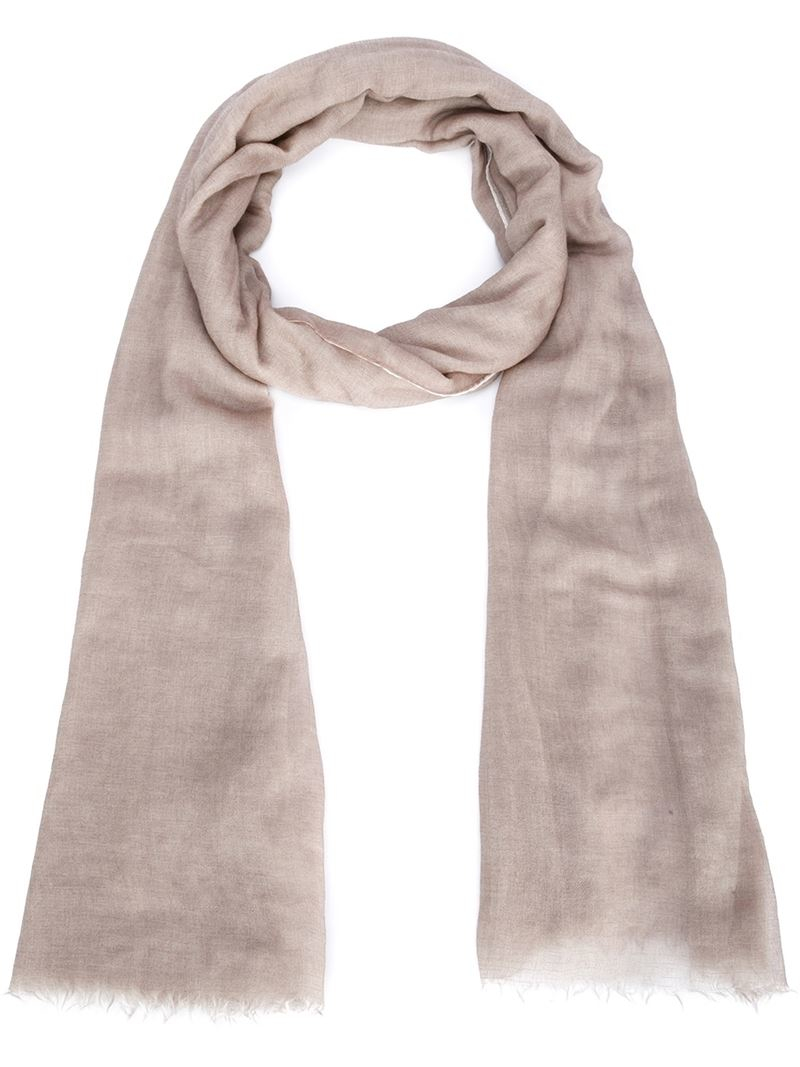 brunello cucinelli ombre scarf in lyst