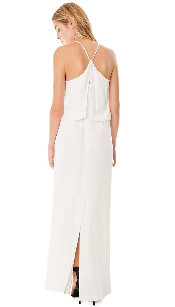 Tibi white silk dress.