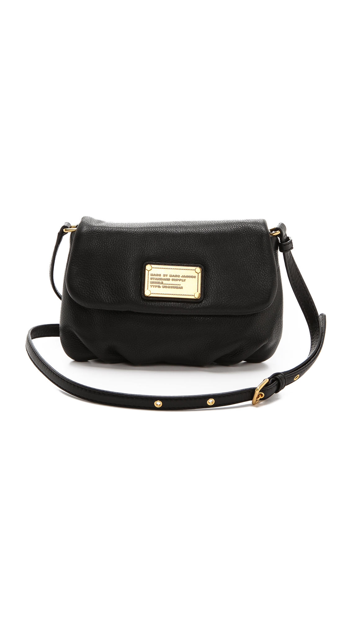Marc by marc jacobs Classic Q Percy Leather Cross-Body Bag in Black | Lyst