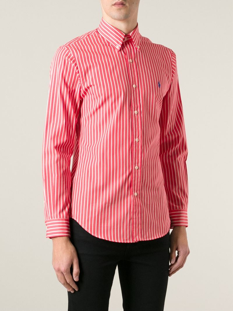 Polo ralph lauren red dress shirt