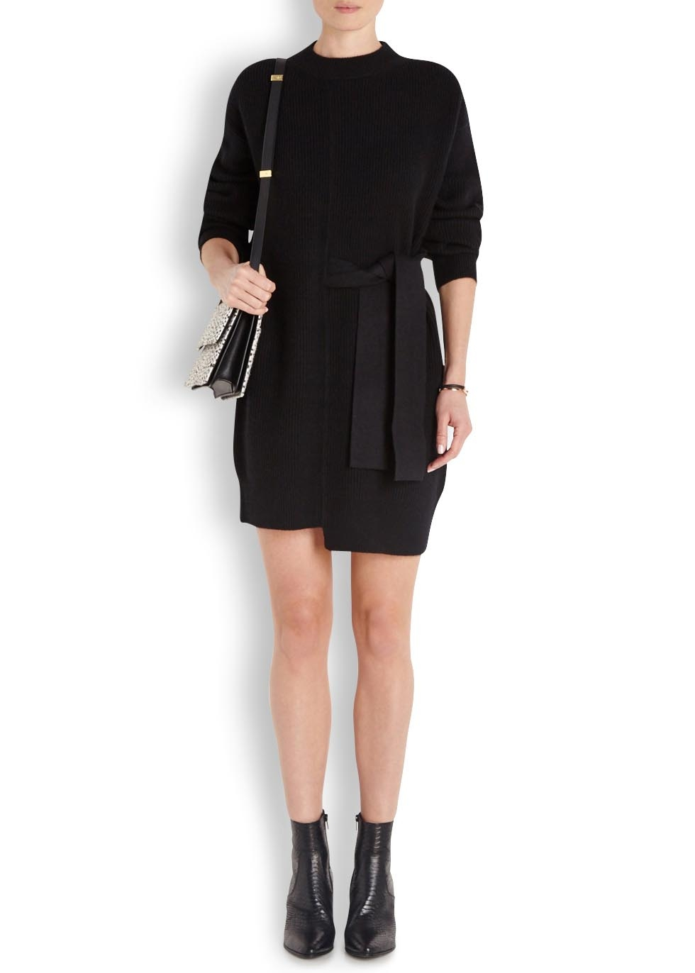 Belted Wool-Blend Midi Dress Proenza Schouler Cheap Sale 2018 Unisex ezE9q4jXNv