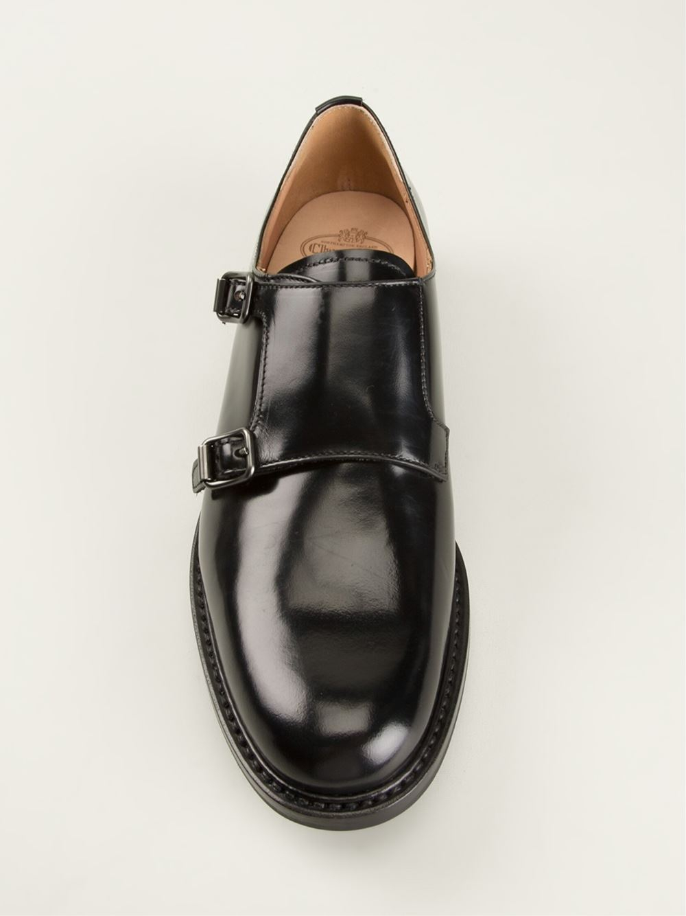Church S Monk Double Strap Shoes In Black Lyst