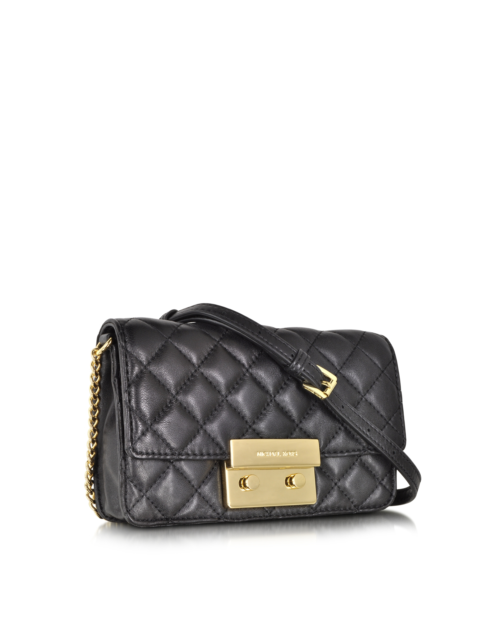 Quilted Crossbody Bag With Chain 102