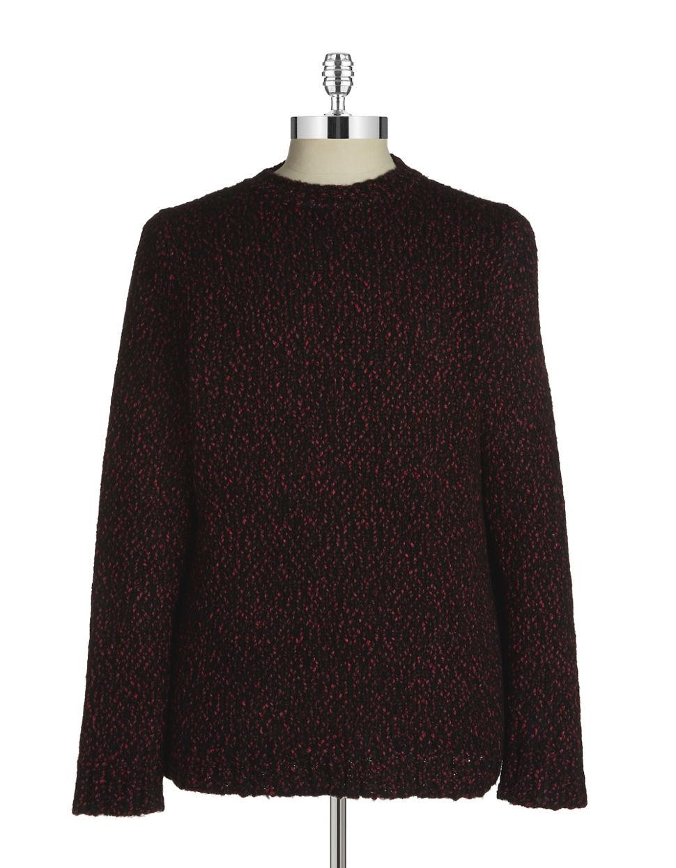 lucio castro knit sweater in purple for lyst