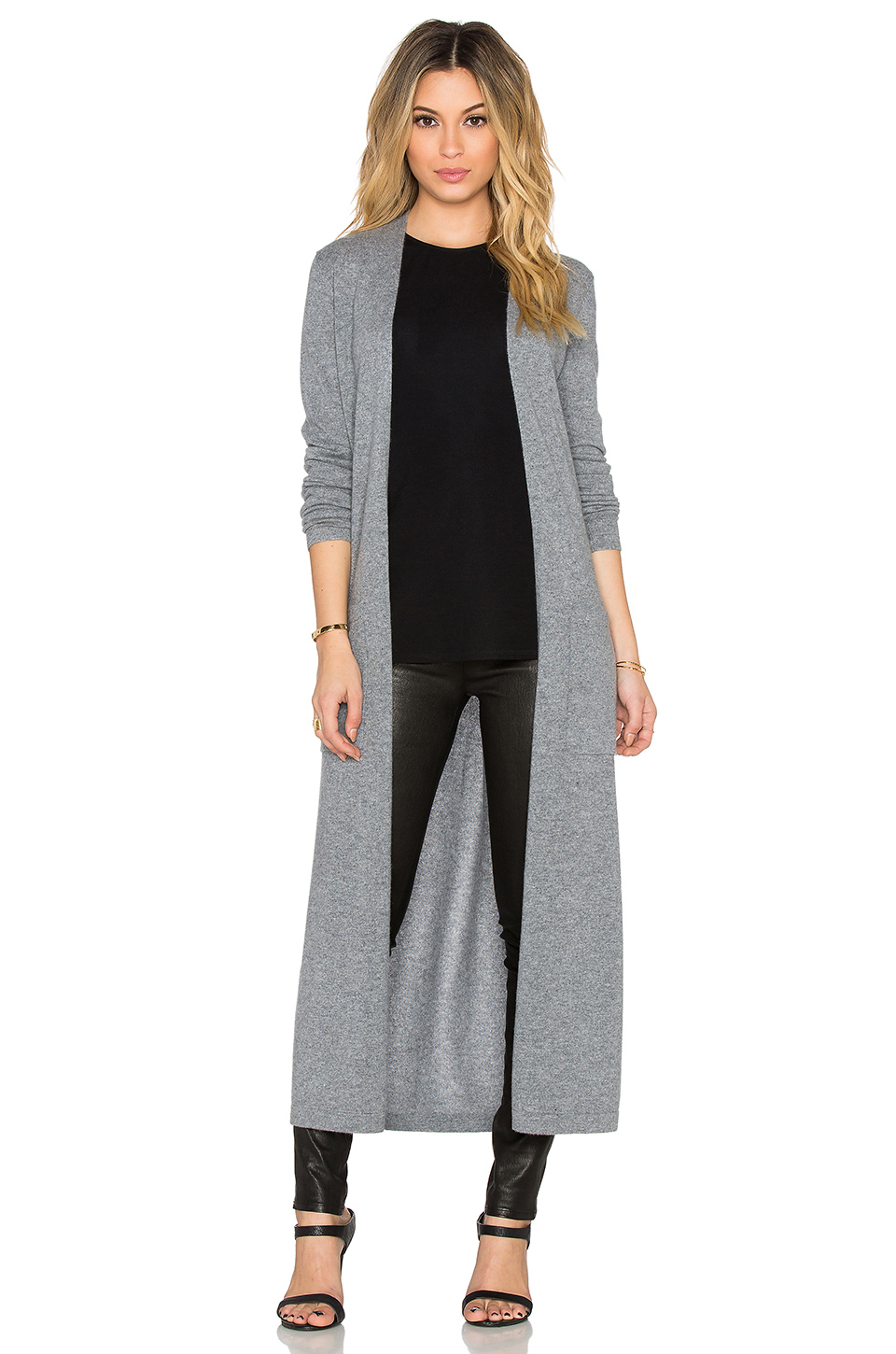 Theory Torina Long Cardigan in Gray | Lyst