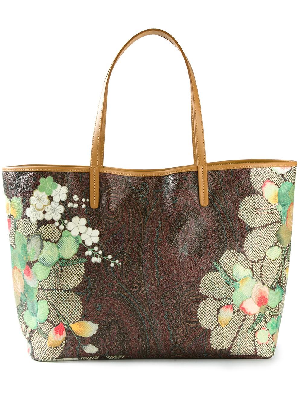 Lyst Etro Printed Tote Bag