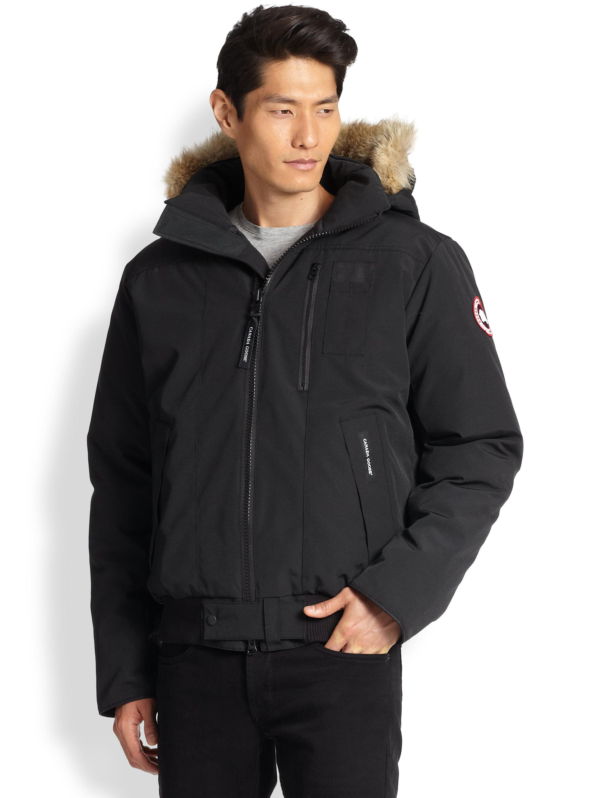 Canada Goose kids replica shop - Canada goose Borden Fur-trimmed Puffer Jacket in Brown for Men ...