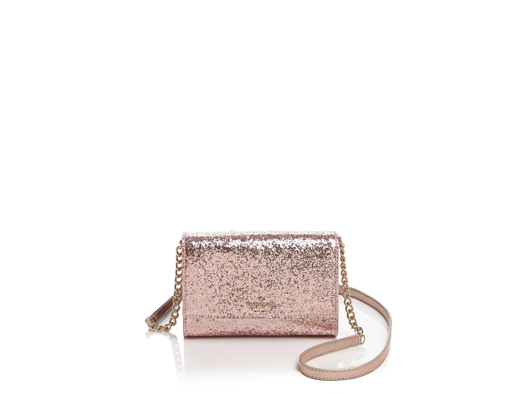 824bbfd2a Kate Spade Glitter Bug Cami Mini Bag in Pink - Lyst