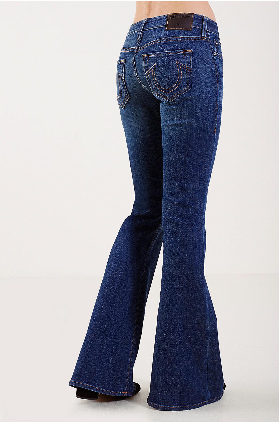 True religion Flare Bell Bottom (short Inseam) Womens Jean in Blue ...