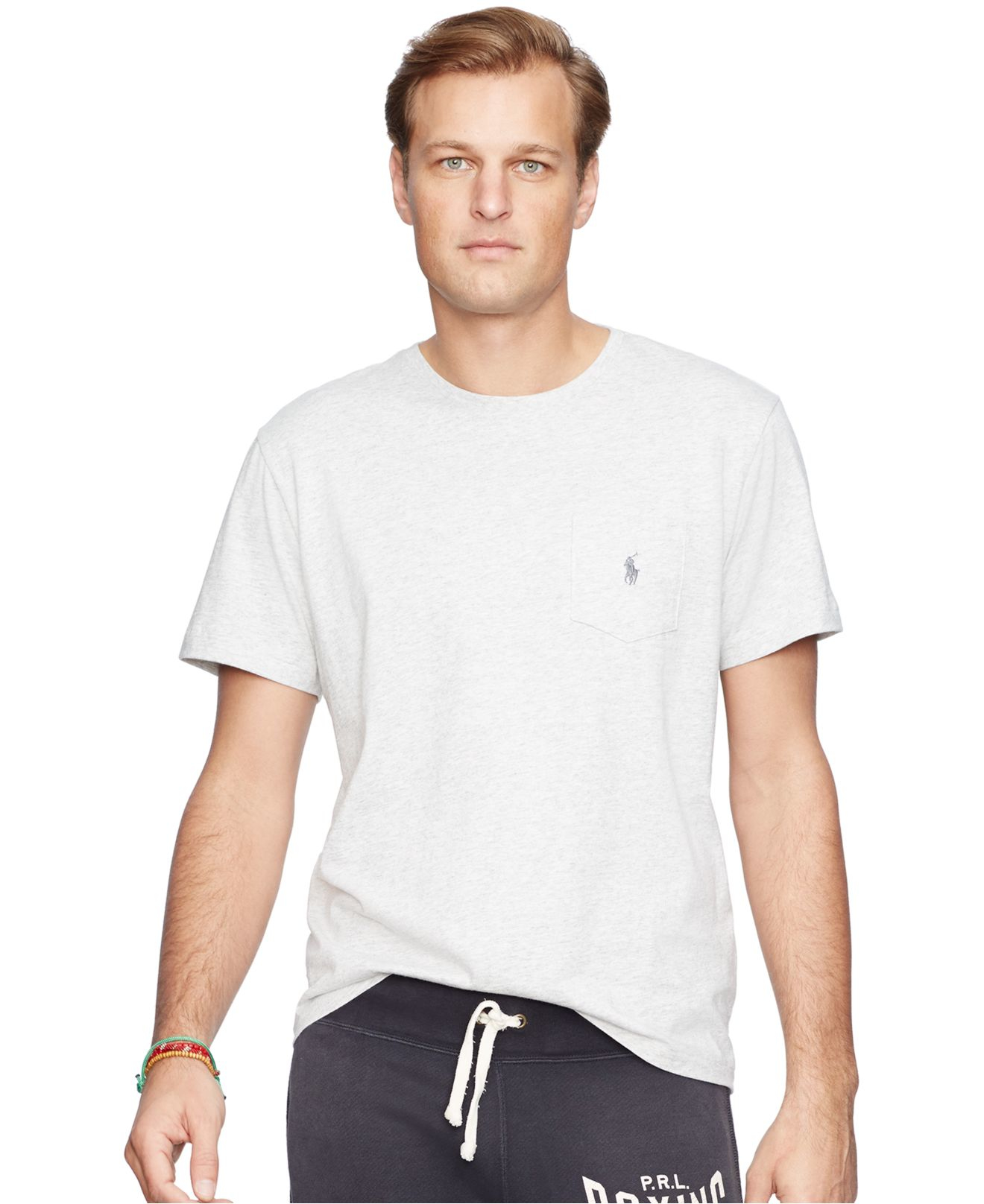 Polo ralph lauren men 39 s big and tall jersey pocket crew for Big and tall polo shirts with pockets