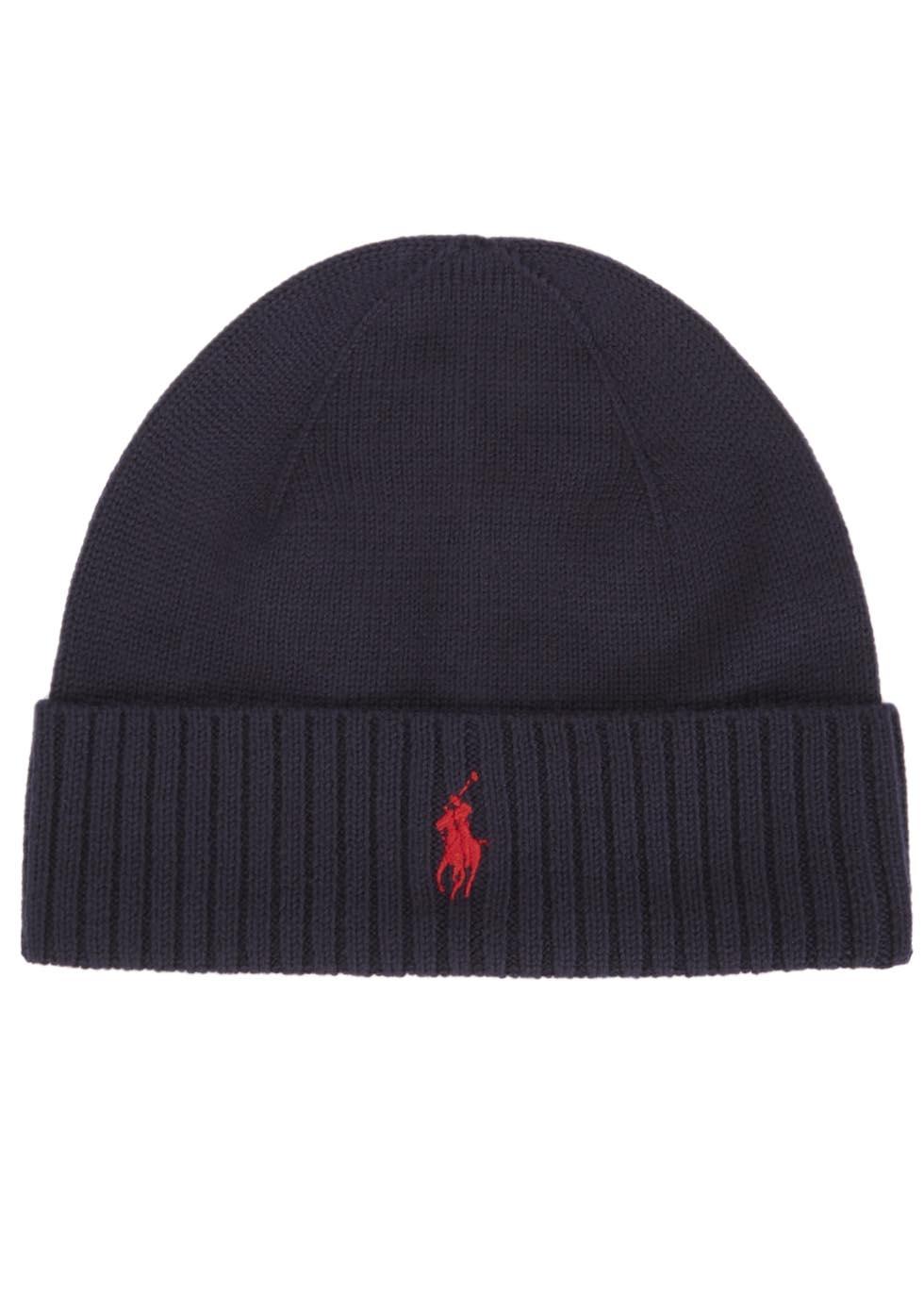be9291465 Wonderful Lyst - Polo Ralph Lauren Navy Merino Wool Hat in Blue for Men IY91