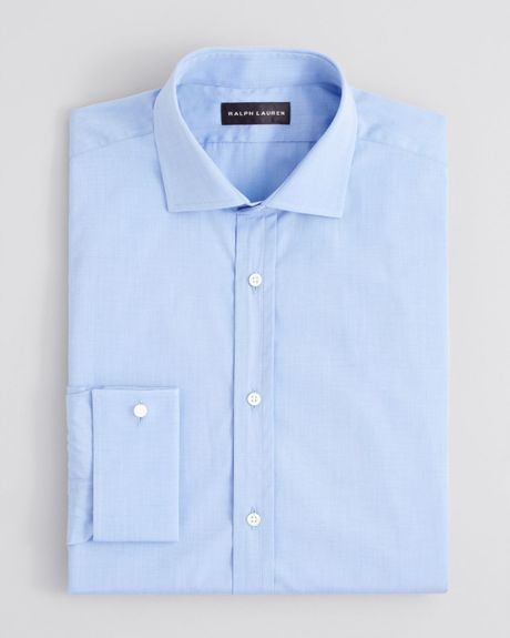 Ralph lauren black label end on end french cuff dress for Light blue french cuff dress shirt