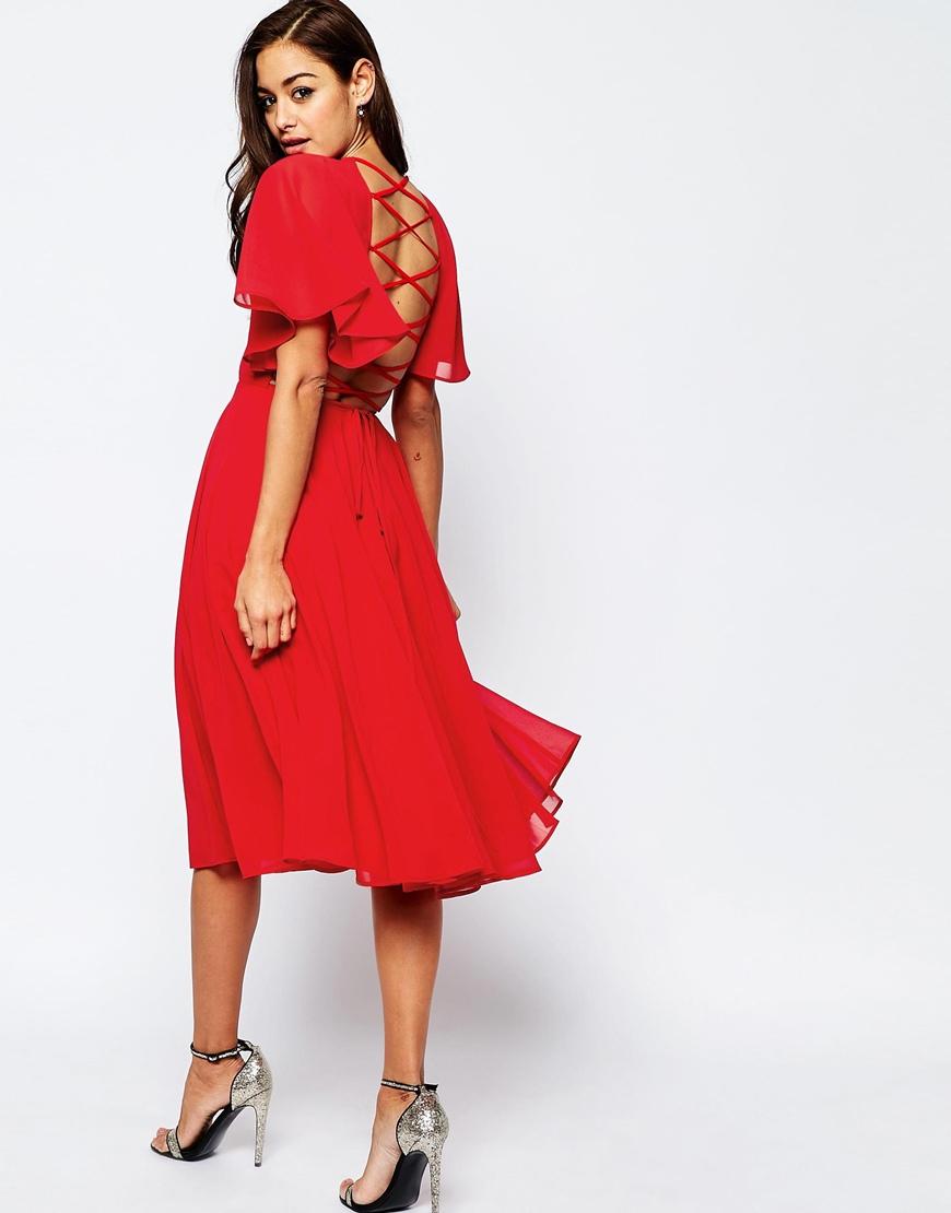 Lace up dress asos
