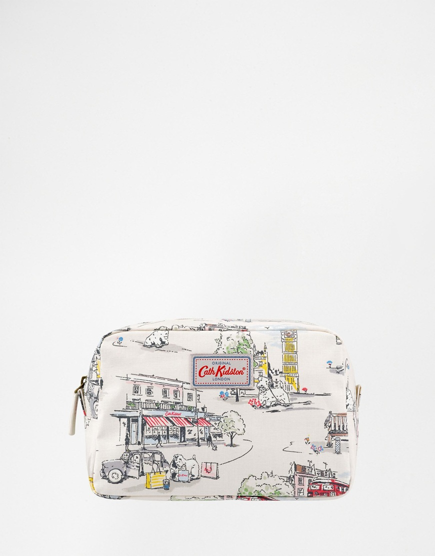 lyst cath kidston billie goes to town overnight pouch in white. Black Bedroom Furniture Sets. Home Design Ideas