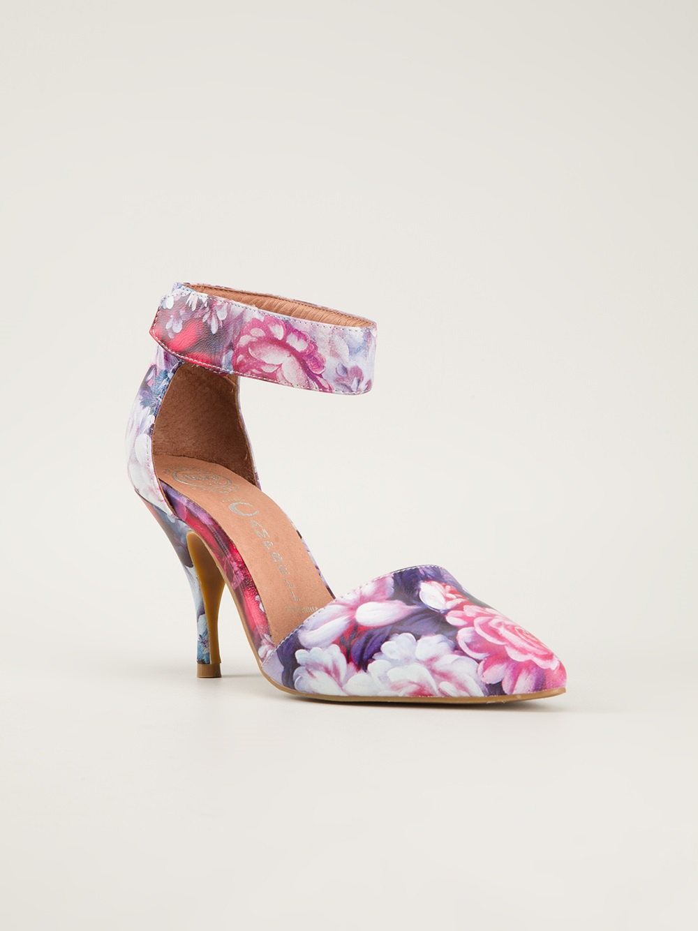 Jeffrey Campbell Floral Print Pumps In Pink Lyst