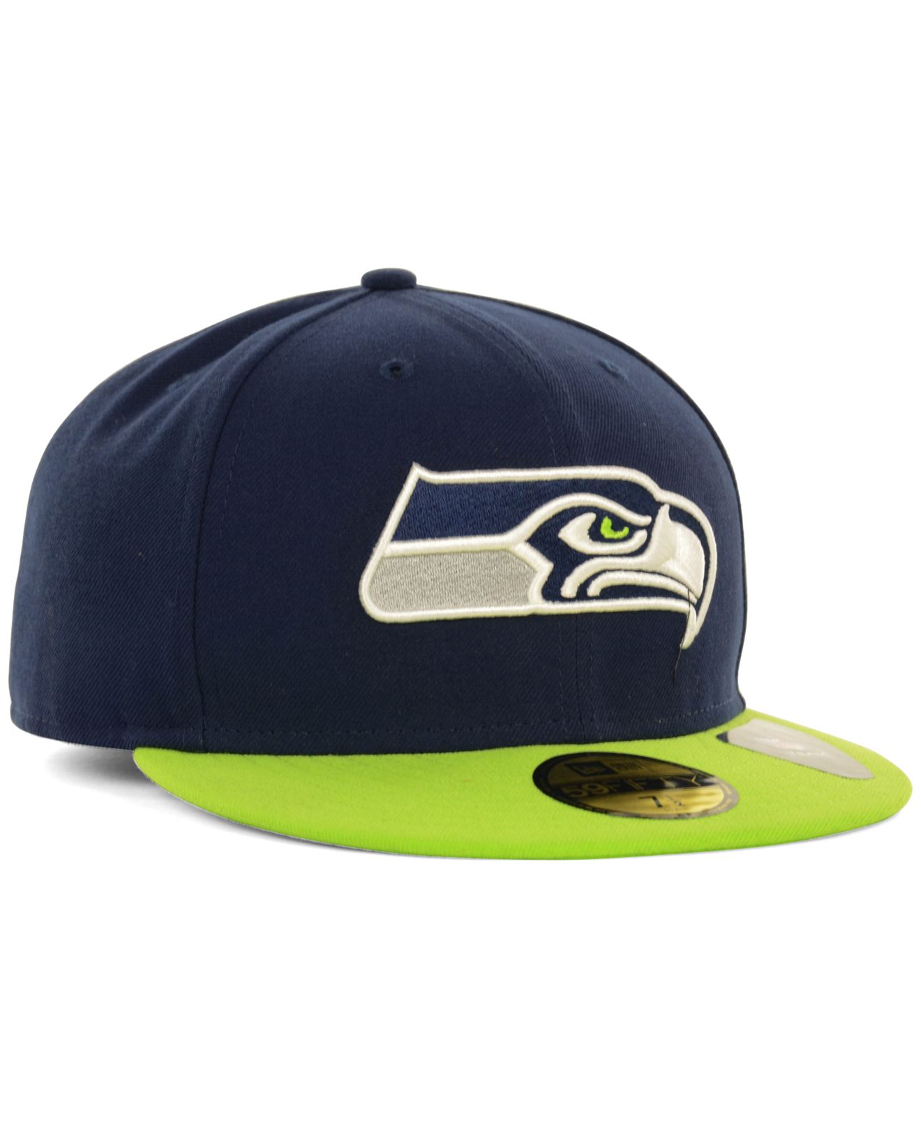 new era seattle seahawks 2 tone 59fifty fitted cap in blue. Black Bedroom Furniture Sets. Home Design Ideas
