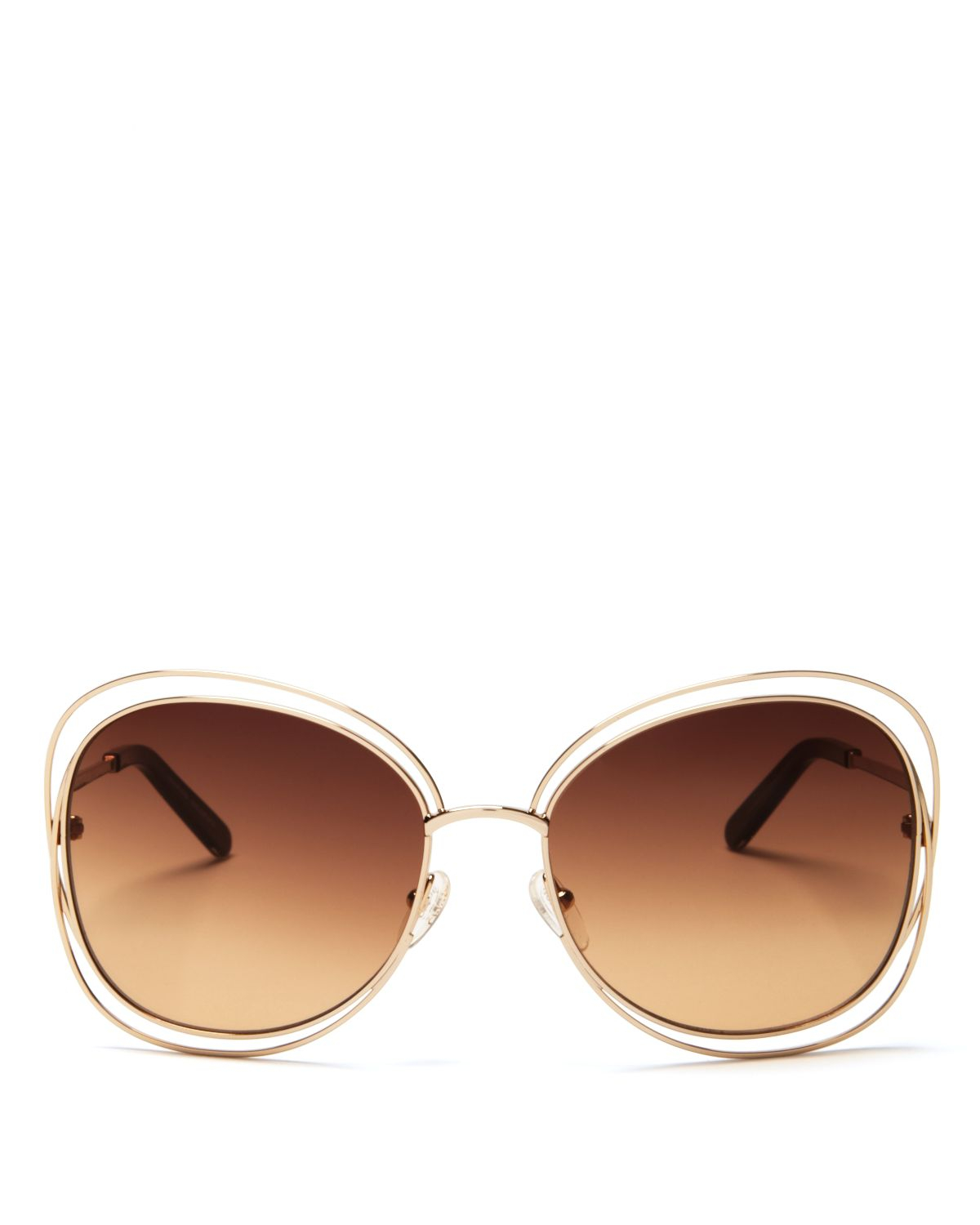 Chloe Gold Frame Sunglasses : Chloe 60mm in Pink (Rose Gold/Brown Gradient) Lyst
