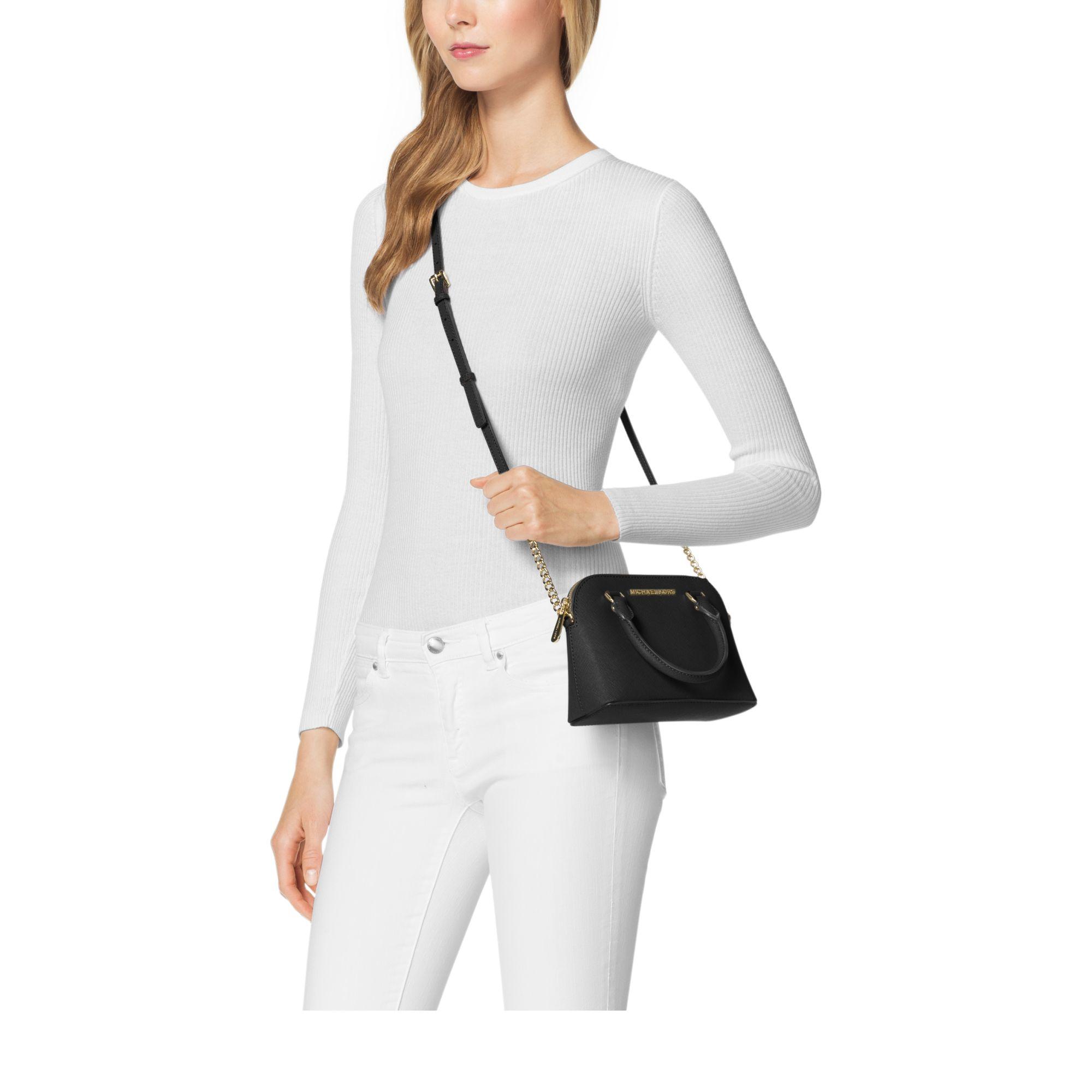 42b28ff7771e2e Michael Kors Cindy Extra-small Saffiano Leather Crossbody in Black ...