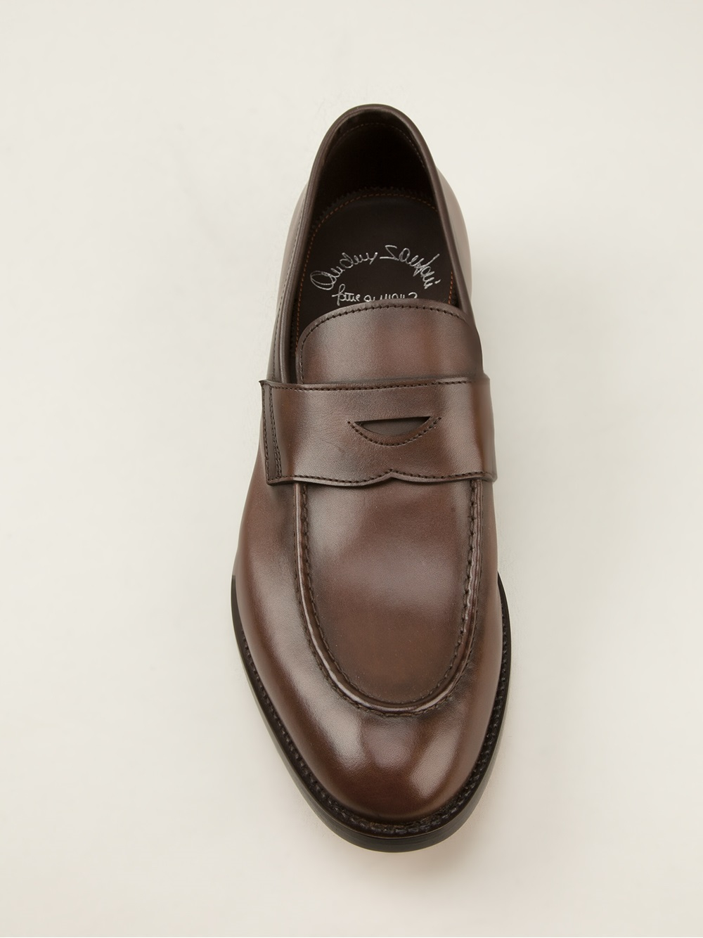 santoni Leather Penny Loafers iXorYGHz