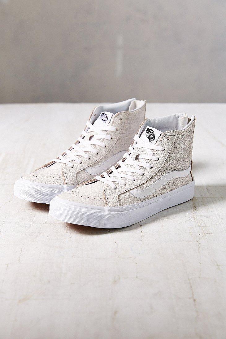 92356950420e4 Lyst - Vans Sk8-Hi Crackle Suede Sneaker in White