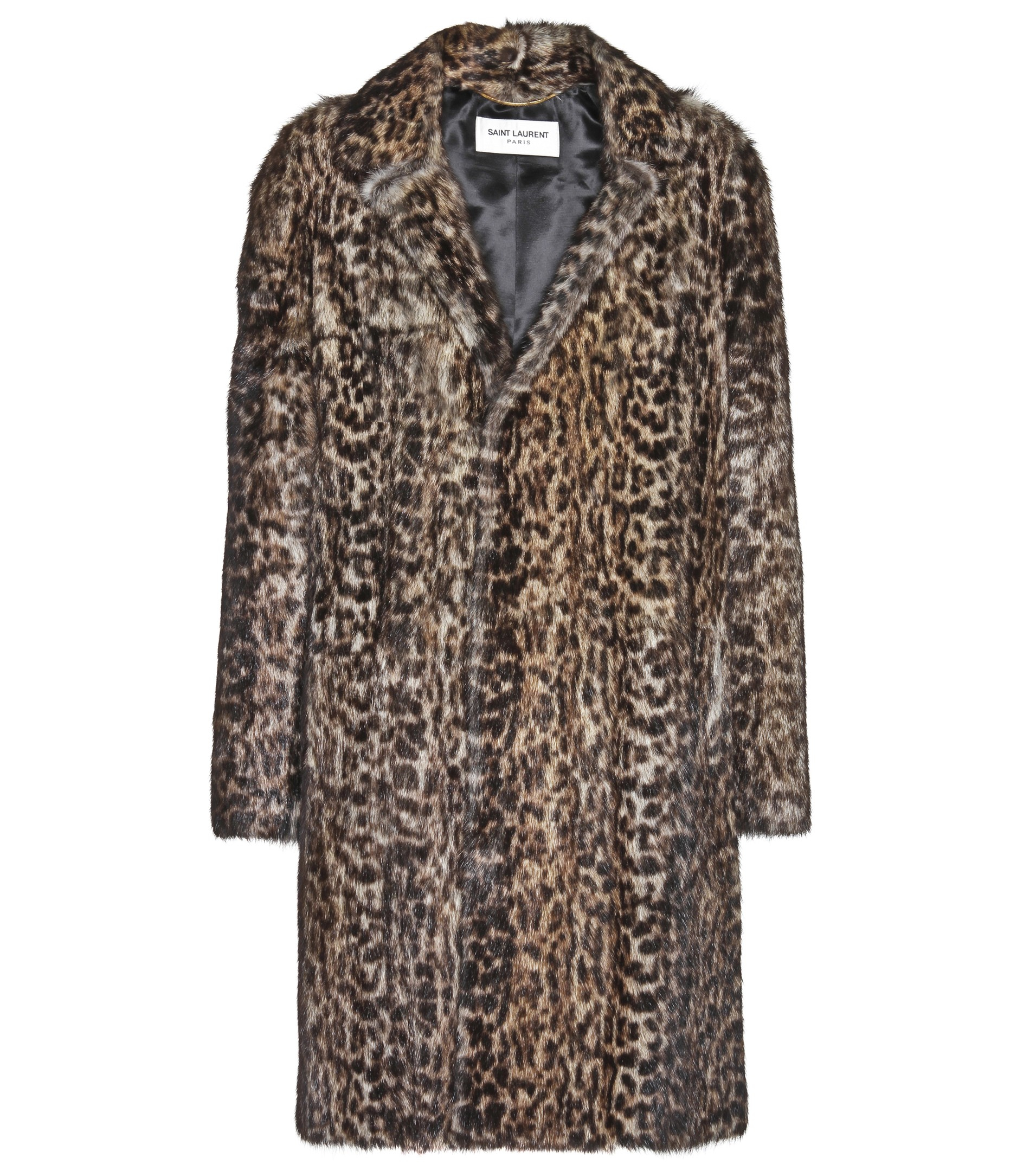 6646e6f836b1 Lyst - Saint Laurent Leopard-print Marmot Fur Coat