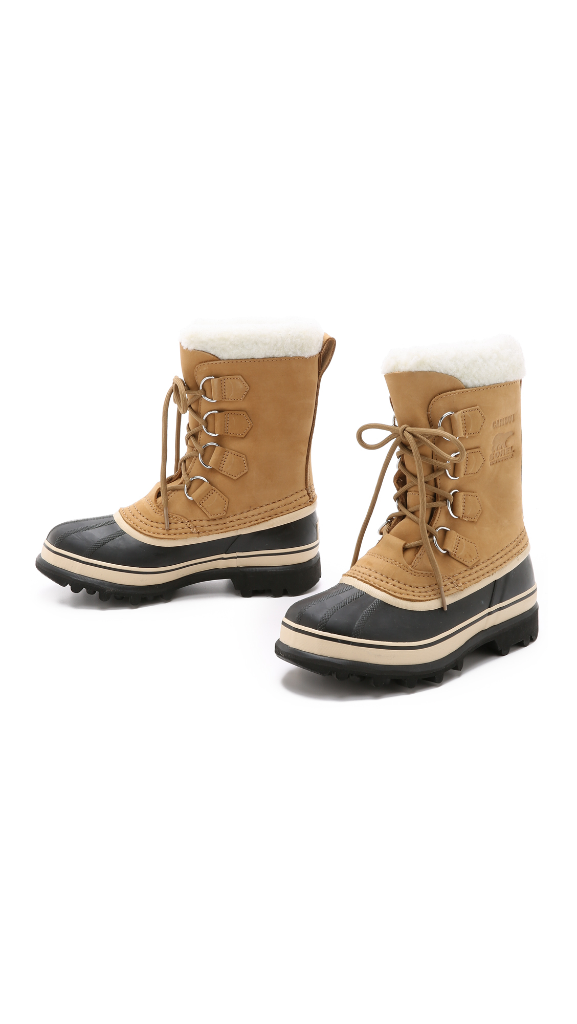 sorel caribou boots in black lyst