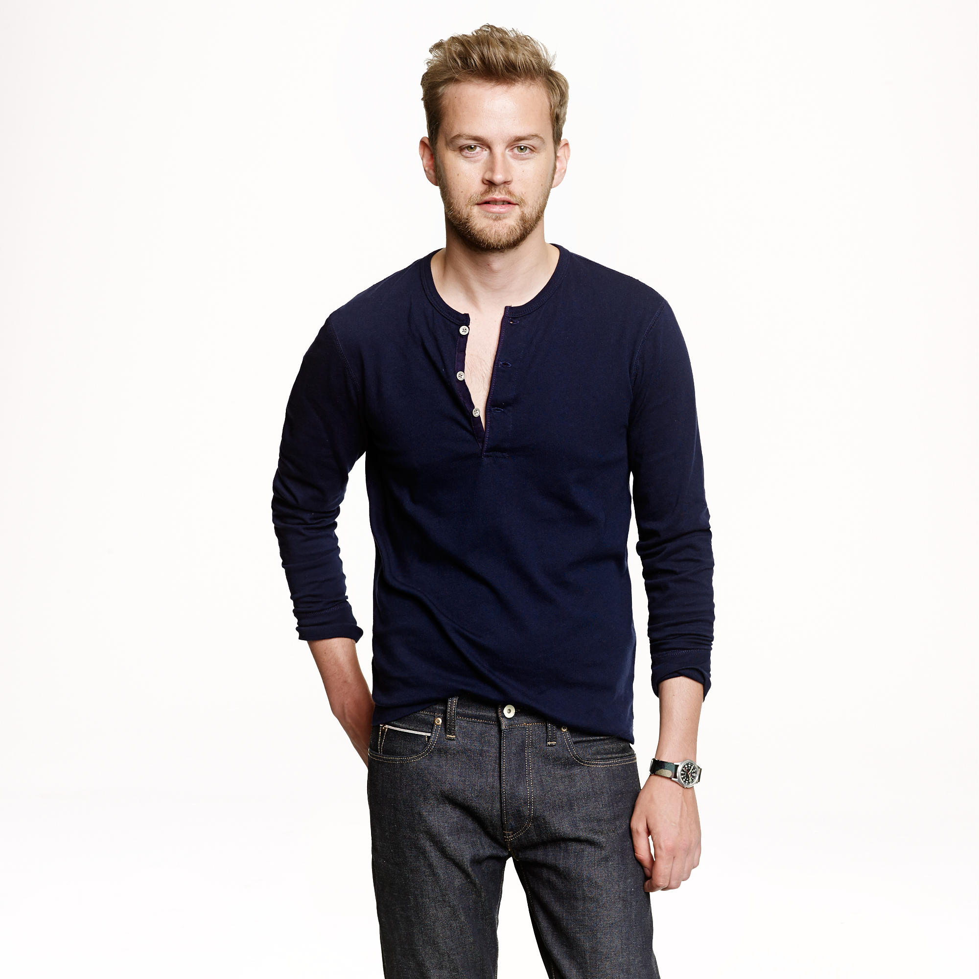 Men's henley shirts are a staple of versatile style with a rugged edge. For a henley shirt men can rely on for casual cool in any environment, shop Lucky Brand. Men's henley shirts are a staple of versatile style with a rugged edge. For a henley shirt men can rely on for casual cool in .