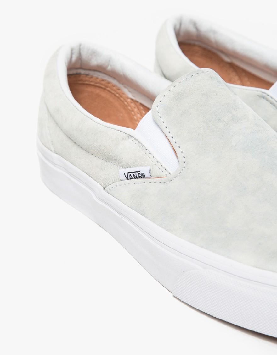 03dead10ee Vans Classic Slip-on Marble Suede in White - Lyst